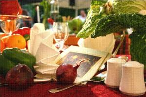 Tischdeko mit Zwiebel