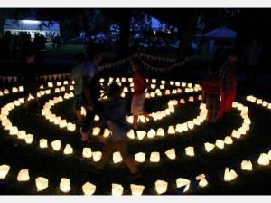 Beispiel Kerzenlabyrinth